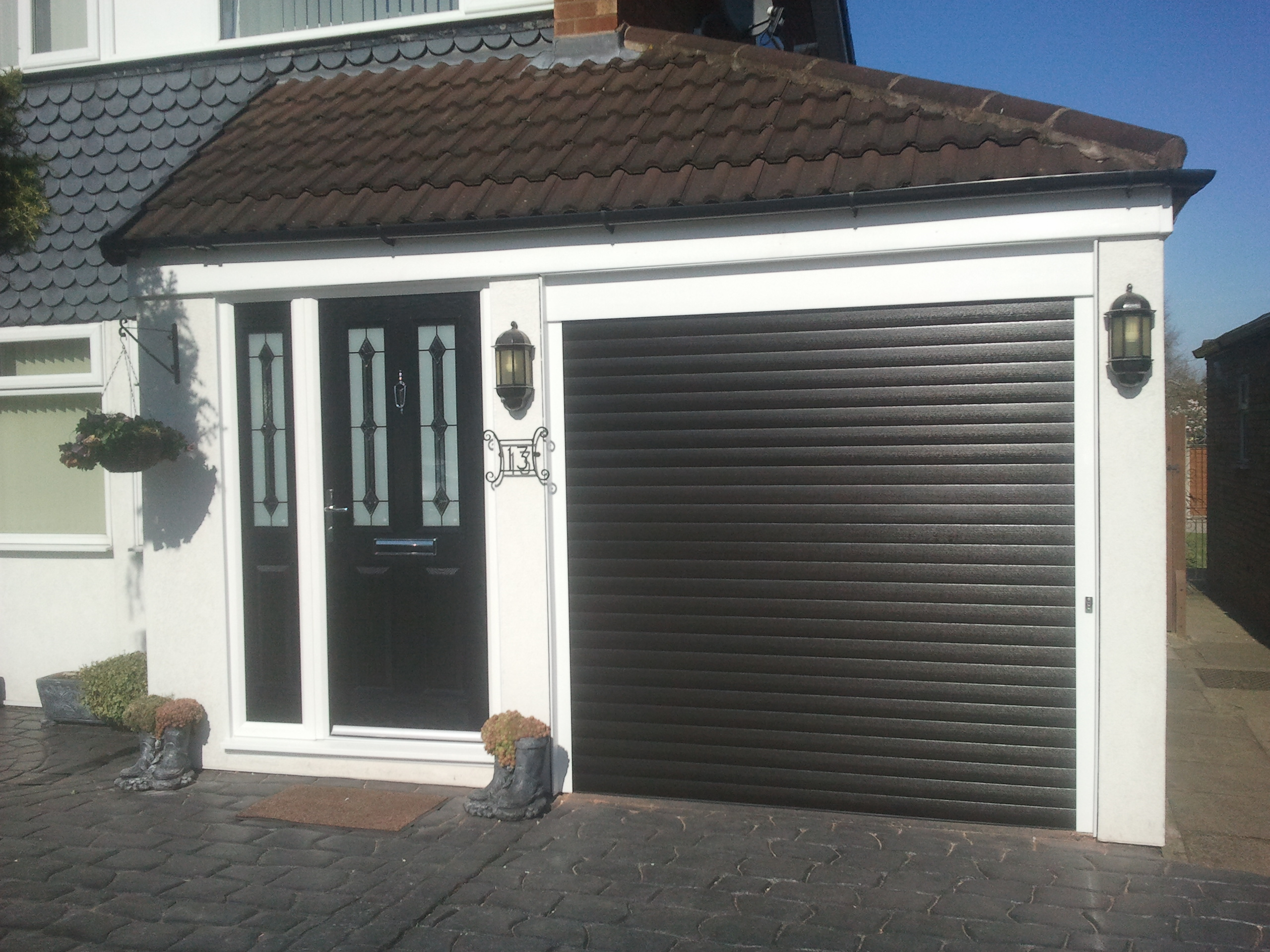 1920 #3C5F8F Below Are Some Samples Of Installations We Have Carried Out: pic Black Steel Garage Doors 36512560
