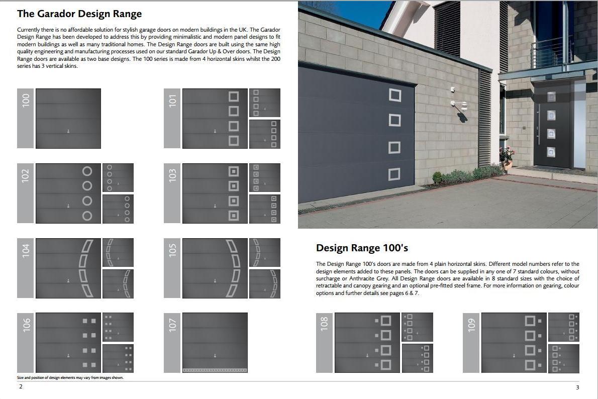 Garador Designer Doors. Nuneaton garage doors   Installations